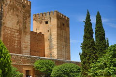 Alhambra Andalusia, Granada, Spanien Royaltyfria Foton