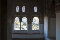 The Alhambra is an Andalusian palatine royalty free stock photography