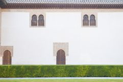 The Alhambra is an Andalusian palatine city located in Granada stock photo