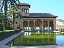 Alhambra-Ansicht Stockbild