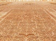 alhambra arabiska dekorativa lättnader Arkivbilder