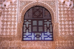 Alhambra Arch Window Moorish Wall Designs Granada Andalusia Spai Stock Photo