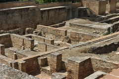 Alhambra, Archeologische Uitgravingen, Granada, Spanje royalty-vrije stock foto
