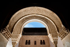 Alhambra arches Royalty Free Stock Photography