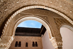Alhambra arches Stock Image