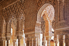 Alhambra arches and column Royalty Free Stock Images
