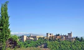 Alhambra au coucher du soleil Photographie stock