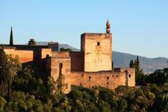 Alhambra au coucher du soleil Images stock