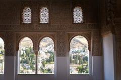 alhambra balkonów de Granada moorish obrazy stock