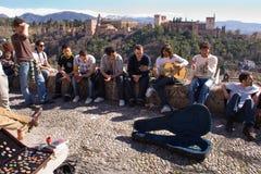 Alhambra buskers royaltyfri fotografi