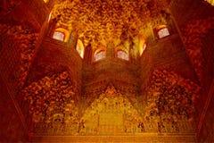 alhambra canopygranada korridor Royaltyfria Bilder