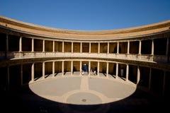 alhambra carlos granada slott spain Royaltyfri Fotografi