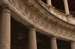 alhambra carlos palacio v royaltyfri foto