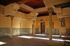 Alhambra castle. Interior of Alhambra Castle (Granada, Spain Royalty Free Stock Image