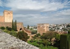 Alhambra castle in Granada, Spain Royalty Free Stock Photography