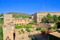 Alhambra Castle in Granada, Spain royalty free stock image