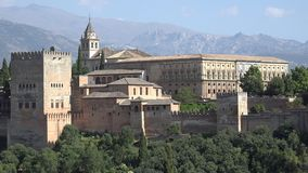 Alhambra Castle And Palace In Spagna video d archivio