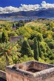 Alhambra Castle Towers Farm Granada Andalucía España Imágenes de archivo libres de regalías