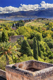 Alhambra Castle Towers Farm Granada Andalusia Spain Royalty Free Stock Images