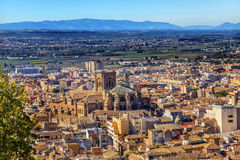 Alhambra Cityscape Cathedral  Granada Andalusia Spain Stock Images