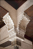 Alhambra column detail Royalty Free Stock Images
