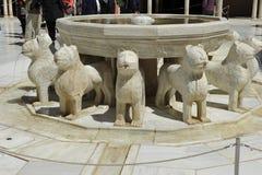Alhambra, cour des lions, Grenade, Espagne Images stock