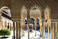Alhambra Court of the Lions Royalty Free Stock Photos