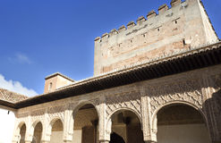 Alhambra Court of the Myrtles South Portico Royalty Free Stock Image