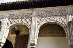 Alhambra Court of the Myrtles South Portico Stock Photo