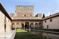Alhambra Court of the Myrtles Stock Image
