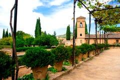 Alhambra courtyard Stock Image