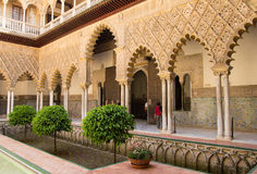 Alhambra courtyard Royalty Free Stock Photography
