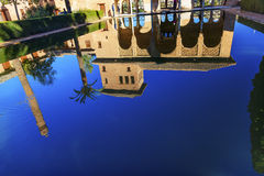 Alhambra Courtyard El Partal Pond Granada Andalusia Spain Stock Images