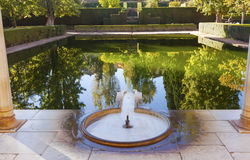 Alhambra Courtyard El Partal Pool Granada Andalusia Spain Stock Photography