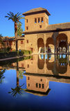 Alhambra Courtyard El Partal Pool Granada Andalusia Spain Stock Photo