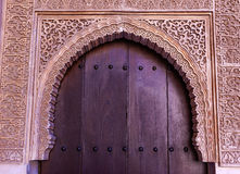 Alhambra Courtyard Moorish Wall Designs Door Granada Andalusia Stock Photos
