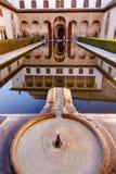 Alhambra Courtyard Myrtles Fountain Pool Granada Andalucía foto de archivo