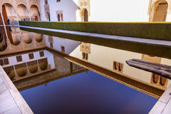 Alhambra Courtyard Myrtles Pool Granada Andalusia Spain Stock Photos