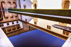 Alhambra Courtyard Myrtles Pool Granada Andalusia Spain stock image
