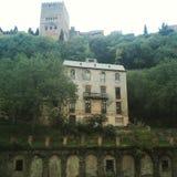 Alhambra da Paseo de los Trsites fotografia stock