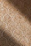 alhambra de detalj granada lättnad Arkivbild