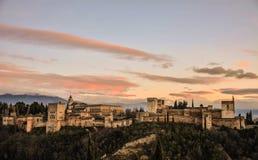 Alhambra DE Granada Stock Afbeelding
