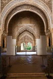 Alhambra de Granada: amazing balcony Royalty Free Stock Photo