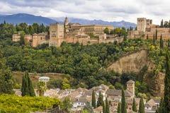 Alhambra de Granada Andalusia Arkivfoto