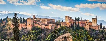 Alhambra de Granada, Andalusia, Spanje Stock Foto's