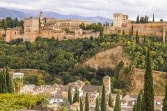 Alhambra de Granada, Andalusien Stockfotos