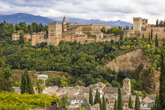 Alhambra de Granada, a Andaluzia foto de stock