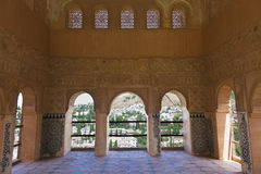 Alhambra de Granada: Balcony in the Partal Palace Stock Photos