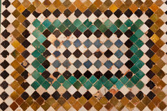 Alhambra de Granada: Ceramic mosaic Royalty Free Stock Photography