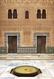 Alhambra de Granada. Comares binnenplaats Stock Fotografie
